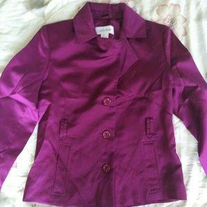 Calvin Klein Jacket Size XS, Satin